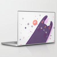 sailormoon Laptop & iPad Skins featuring Sleepy Luna by Suni