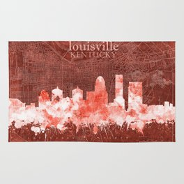 louisville skyline vintage red Rug