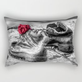 Shoes On The Danube Bank Rectangular Pillow