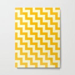 Cream Yellow and Amber Orange Steps LTR Metal Print