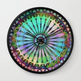 Color the World Flower Kaleidoscope Mint Wall Clock