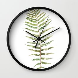 Botanical Single Leaf Fern Wall Clock