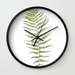 Botanical Single Leaf Fern Wall Clock