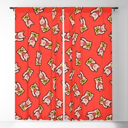 Lucky Pig Pattern Blackout Curtain