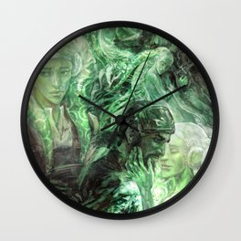 Green Healing Light Wall Clock