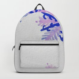 WATERCOLOR SNOWFLAKE 2 - blue and purple palette Backpack