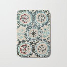 Ferghana Suzani  Antique North East Uzbekistan Embroidery Bath Mat