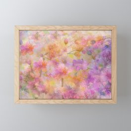 Sophisticated Painterly Floral Abstract Framed Mini Art Print