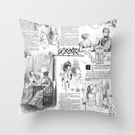 Pride and Prejudice - Pages Throw Pillow