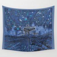 las vegas Wall Tapestries featuring las vegas by Bekim ART