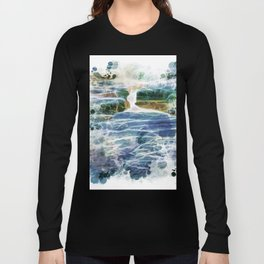 Abstract rock pool in the rough rocks Long Sleeve T-shirt