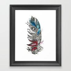 Garden Feather Framed Art Print