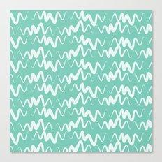 Acqua Line Canvas Print