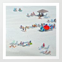 Playing in the sand Art Print