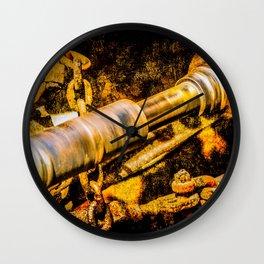 Rotating Cardan Shaft. Grunge Rusty Metal. Motion Blur Wall Clock