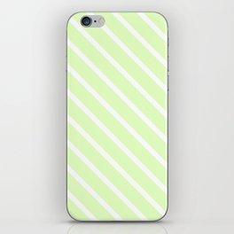 Cool Cucumber Diagonal Stripes iPhone Skin
