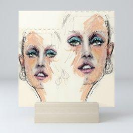 Portrait study. Rough sketch Mini Art Print