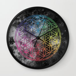 Sacred Geometry Universe 6 Wall Clock