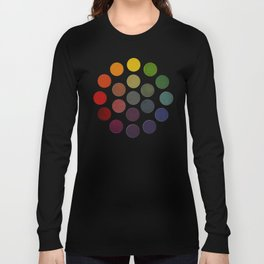 'Parsons' Spectrum Color Chart' 1912, Remake 2 (enhanced) Long Sleeve T-shirt