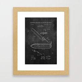 Beekeeper Knife Patent with Bees Framed Art Print