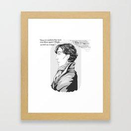 Words Left Unsaid Framed Art Print