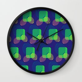 pattern circulos Wall Clock