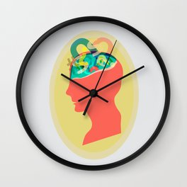 I can´t read your mind Wall Clock