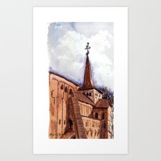 The first good day in spring Art Print