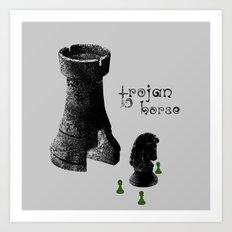 Chess Rook - Trojan Horse Art Print