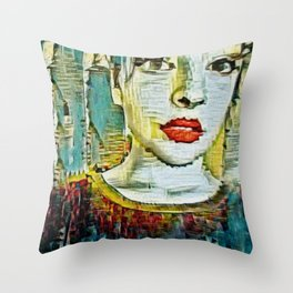 Serendipity Beyond Smashed Mirrors Throw Pillow