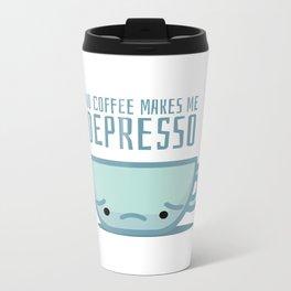 No coffee makes me depresso Metal Travel Mug