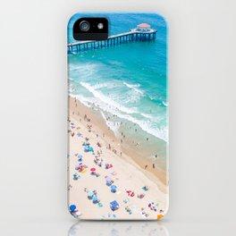 Manhattan Beach Drone Shot iPhone Case