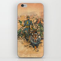 calvin iPhone & iPod Skins featuring Calvin: The Spiffy Spaceman by Captain_RibMan