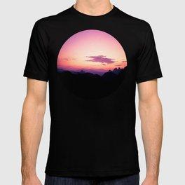 Fuchsia & Purple Sunset Mountains T-shirt