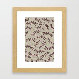 Twiggy (Beige) Framed Art Print
