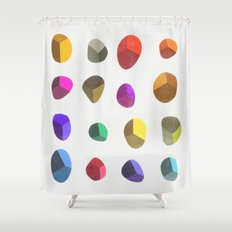 Painted Pebbles 2 Shower Curtain