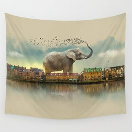 Travelling elephant Wall Tapestry