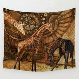 Three Giraffes Wall Tapestry