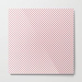 Strawberry Ice Polka Dots Metal Print