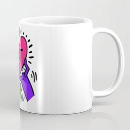 "Keith Haring inspired ""I Love Art"" Secondary Colors edition Coffee Mug"