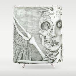surreal fallen angel Shower Curtain