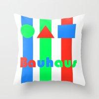 bauhaus Throw Pillows featuring Bauhaus by Retale