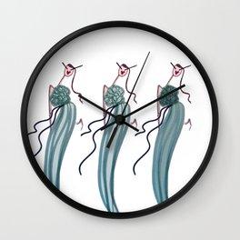 DANCING IN THE WIND Wall Clock