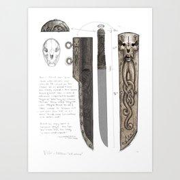 """Villr - Old Norse - """"wild, untamed"""" Art Print"""