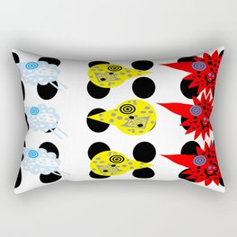 THE BIRDS! funky flying feathers Rectangular Pillow