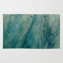 Aqua Blue Marble Rug