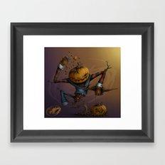 Freddy Pumpkins Framed Art Print