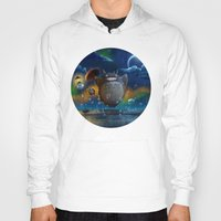 studio ghibli Hoodies featuring Studio Ghibli: My Neighbour Totoros by Laurence Andrew Page Illustrator