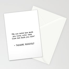 Roosevelt quote 1 Stationery Cards