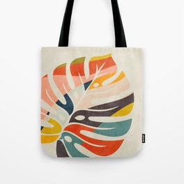 shape leave modern mid century Tote Bag